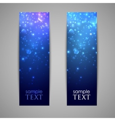 Holiday blue banners with sparkles vector
