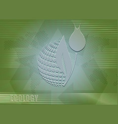Light green biological background vector