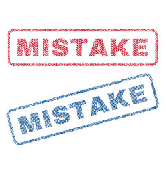 mistake textile stamps vector image