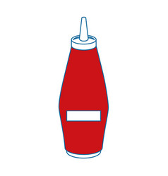Mustard in bottle vector