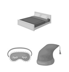 Rest and sleep monochrome icons in set collection vector
