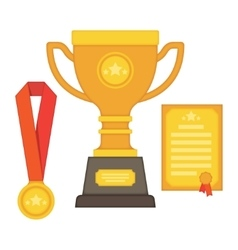 rophy and awards Flat Style - vector image vector image