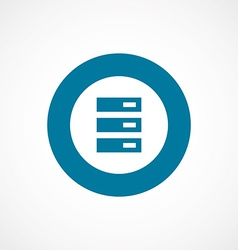 server bold blue border circle icon vector image vector image