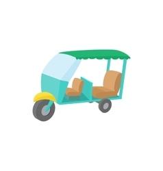 Thailand three wheel native taxi icon vector