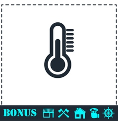 Thermometer icon flat vector image vector image
