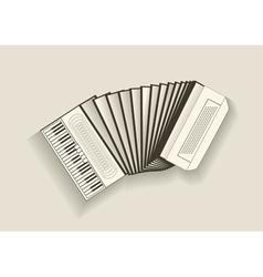 Vintage accordion vector