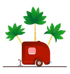 vintage camping trailer travel vector image