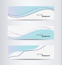 website header or banner set vector image vector image