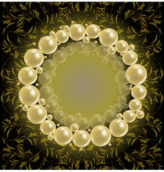Shiny pearls frame vector