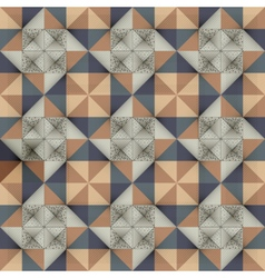 Antique marbled floor tiles abstract pattern vector image