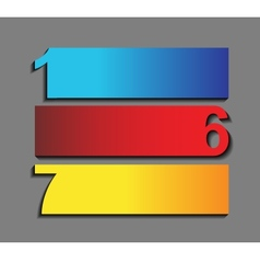 One six seven the of progress icons in t vector