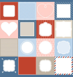 Set of 16 frame vector