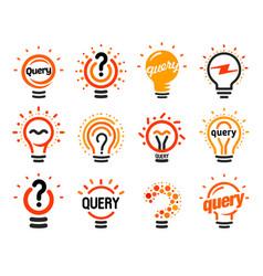 New question mark symbols flat bright cartoon vector