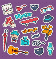 Hipster style vintage stickers badges and patches vector