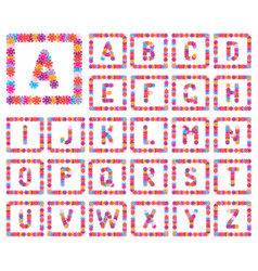 alphabet from flowers vector image
