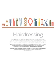 Hairdressing icons set vector
