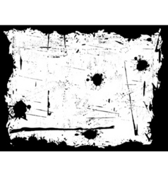 Black and white grunge border vector