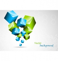 Abstract background with 3d element vector