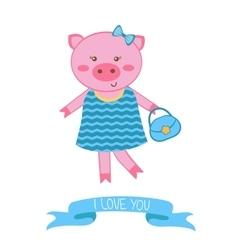 fashionable pig mom vector image