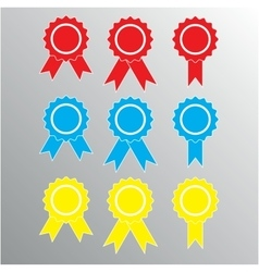 Pictograph of award different color vector