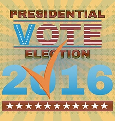 Presidential election vote 2016 banner vector
