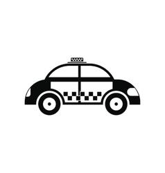 Taxi black simple icon vector image