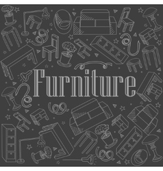 Furniture chalk vector
