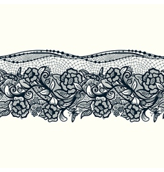 Abstract seamless lace pattern with flowers and vector