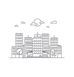 City life concept vector