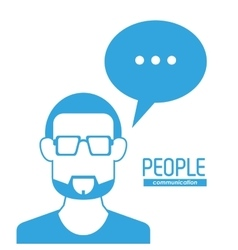 Man and bubble icon people design graphic vector