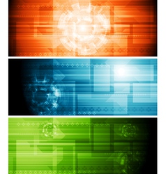Abstract hi-tech banners vector image