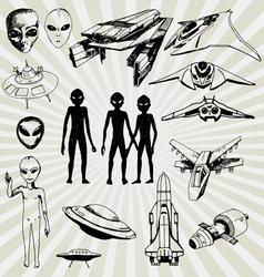 aliens vector image vector image