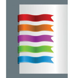book tags vector image
