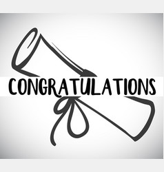 Card template with congratulations word and degree vector