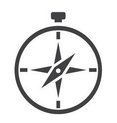 Compass solid icon navigation and travel vector