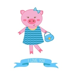 fashionable pig mom vector image