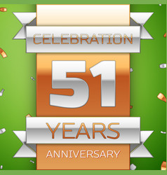 fifty one years anniversary celebration design vector image