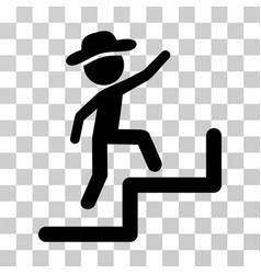 gentleman steps upstairs icon vector image vector image