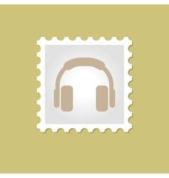 Headphone stamp vector image