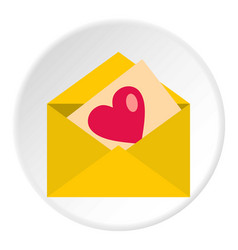 Love letter icon circle vector