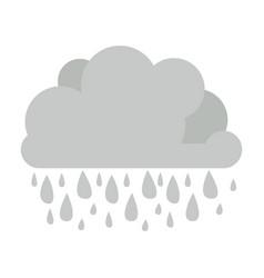 Monochrome cumulus cloud with raindrops vector