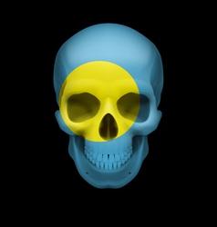 Palauan flag skull vector