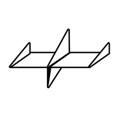 Paper plane air free fun outline vector