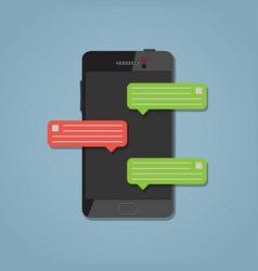 Phone with message vector