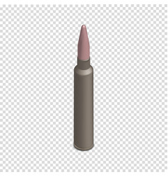 photorealistic cartridge with a bullet in vector image