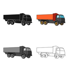 Pickup rural truck tow auto truck with orange vector