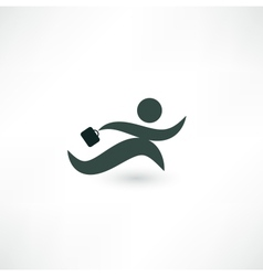 Running businessman icon vector image vector image