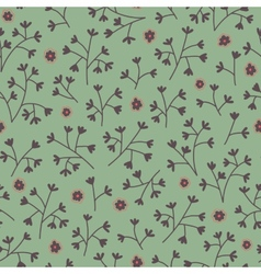 Seamless floral pattern with small flowers Endless vector image vector image