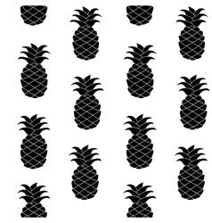 Seamless pineapple pattern vector image