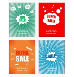 Set of sale banners template vector image